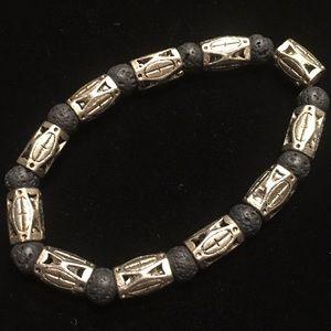 Lava rock bracelet handmade,essential oils